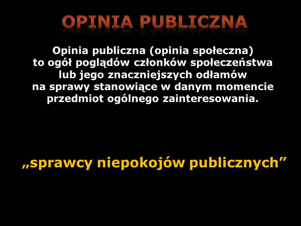 """""""sprawcy niepokojów publicznych"""