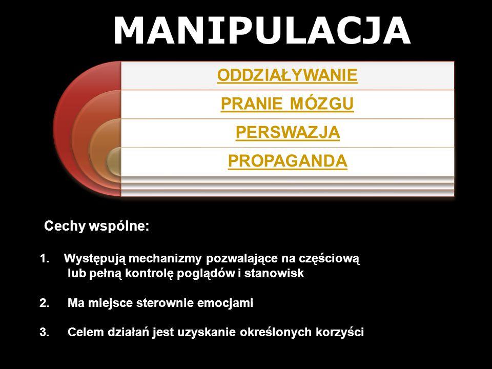 MANIPULACJA Cechy wspólne: