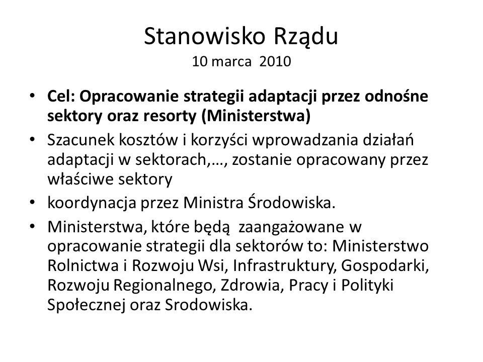 Stanowisko Rządu 10 marca 2010
