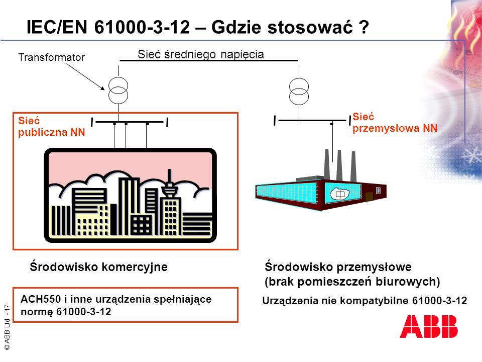 IEC/EN 61000-3-12 – Gdzie stosować