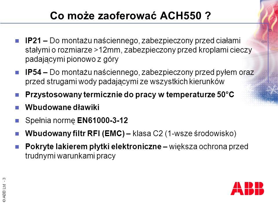 Co może zaoferować ACH550