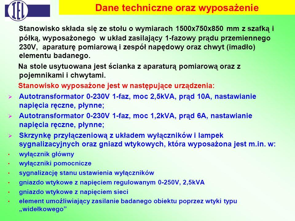 Dane techniczne oraz wyposażenie