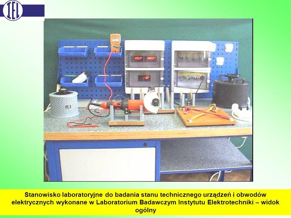Stanowisko laboratoryjne do badania stanu technicznego urządzeń i obwodów elektrycznych wykonane w Laboratorium Badawczym Instytutu Elektrotechniki – widok ogólny