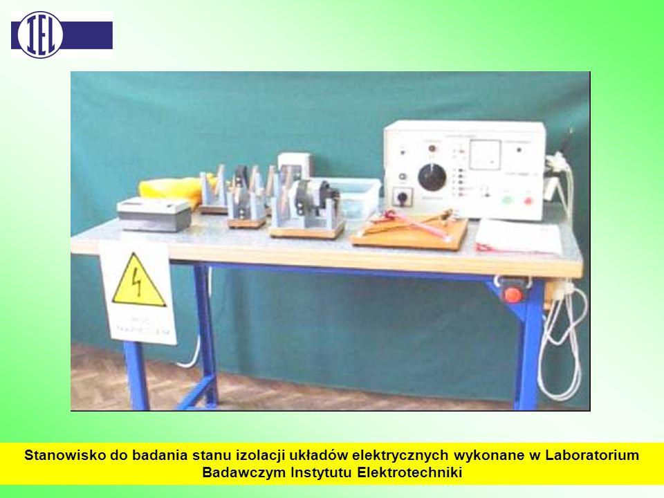 Stanowisko do badania stanu izolacji układów elektrycznych wykonane w Laboratorium Badawczym Instytutu Elektrotechniki