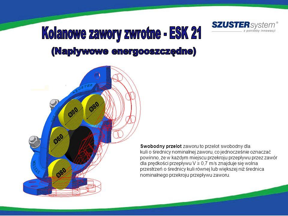 Kolanowe zawory zwrotne - ESK 21