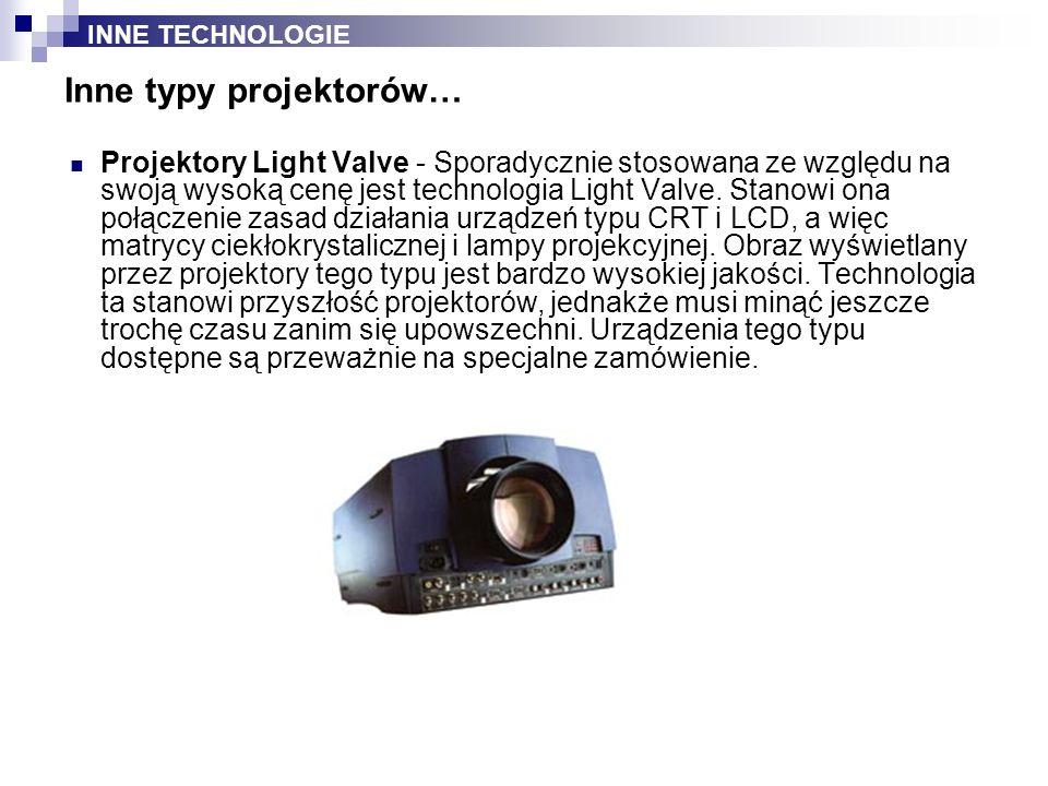 Inne typy projektorów…