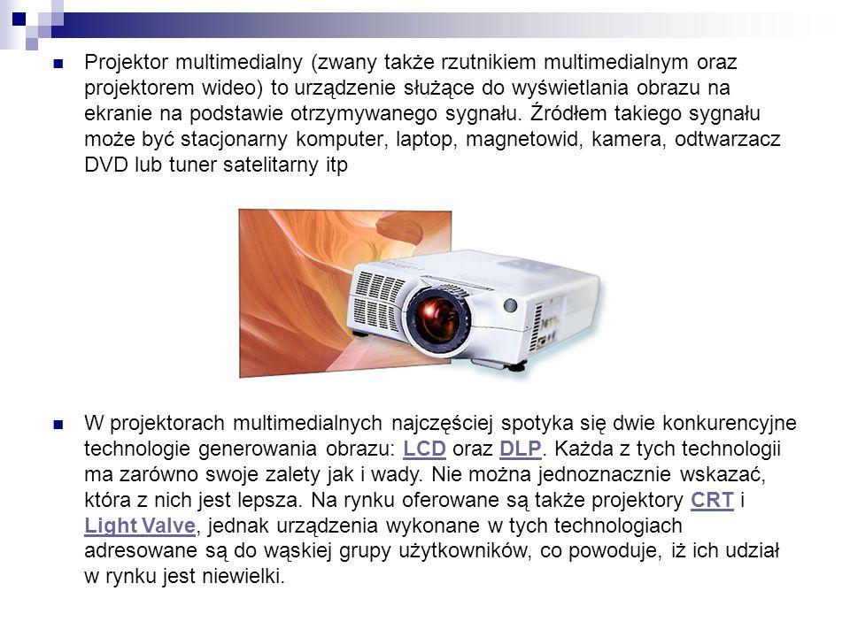 Projektor multimedialny (zwany także rzutnikiem multimedialnym oraz projektorem wideo) to urządzenie służące do wyświetlania obrazu na ekranie na podstawie otrzymywanego sygnału. Źródłem takiego sygnału może być stacjonarny komputer, laptop, magnetowid, kamera, odtwarzacz DVD lub tuner satelitarny itp