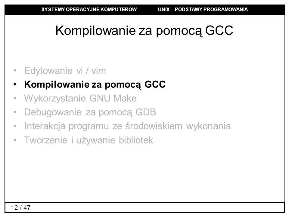 Kompilowanie za pomocą GCC
