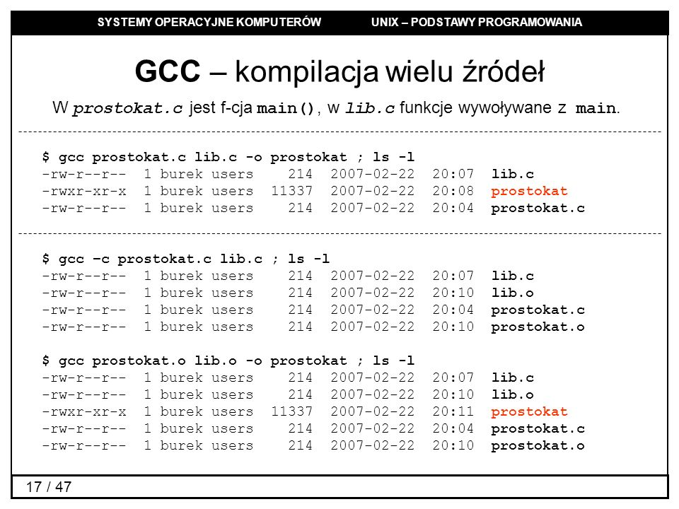GCC – kompilacja wielu źródeł