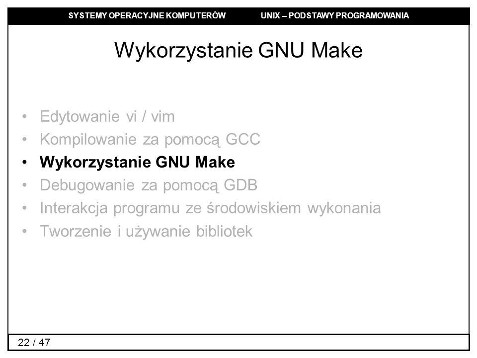 Wykorzystanie GNU Make