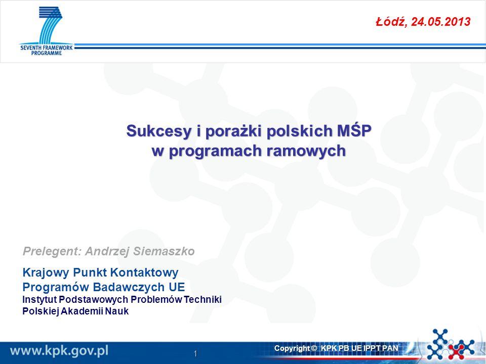 Sukcesy i porażki polskich MŚP w programach ramowych