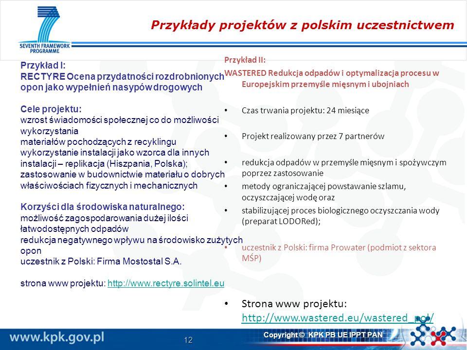 Przykłady projektów z polskim uczestnictwem