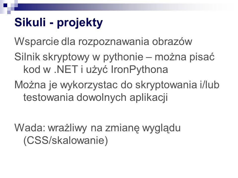 Sikuli - projekty