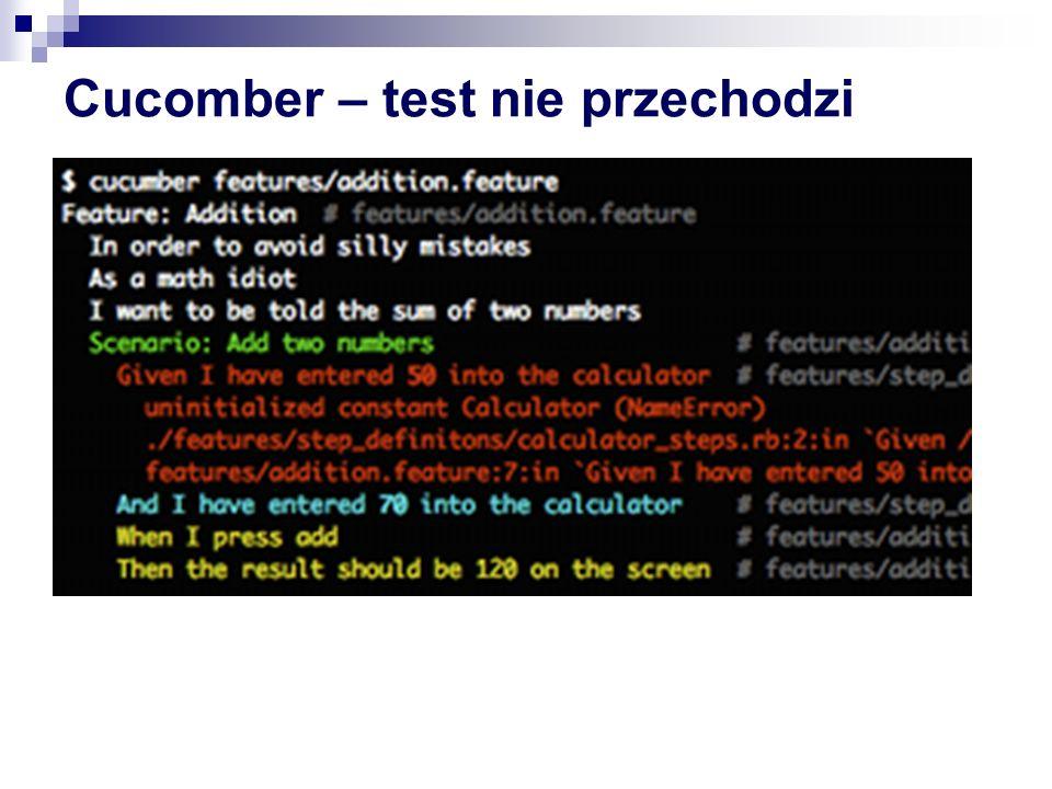 Cucomber – test nie przechodzi