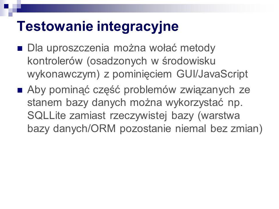 Testowanie integracyjne