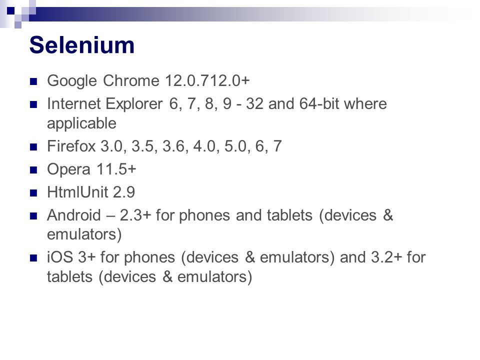 Selenium Google Chrome 12.0.712.0+