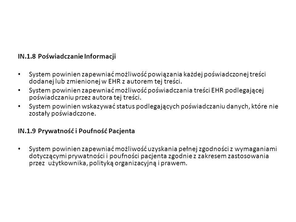 IN.1.8 Poświadczanie Informacji