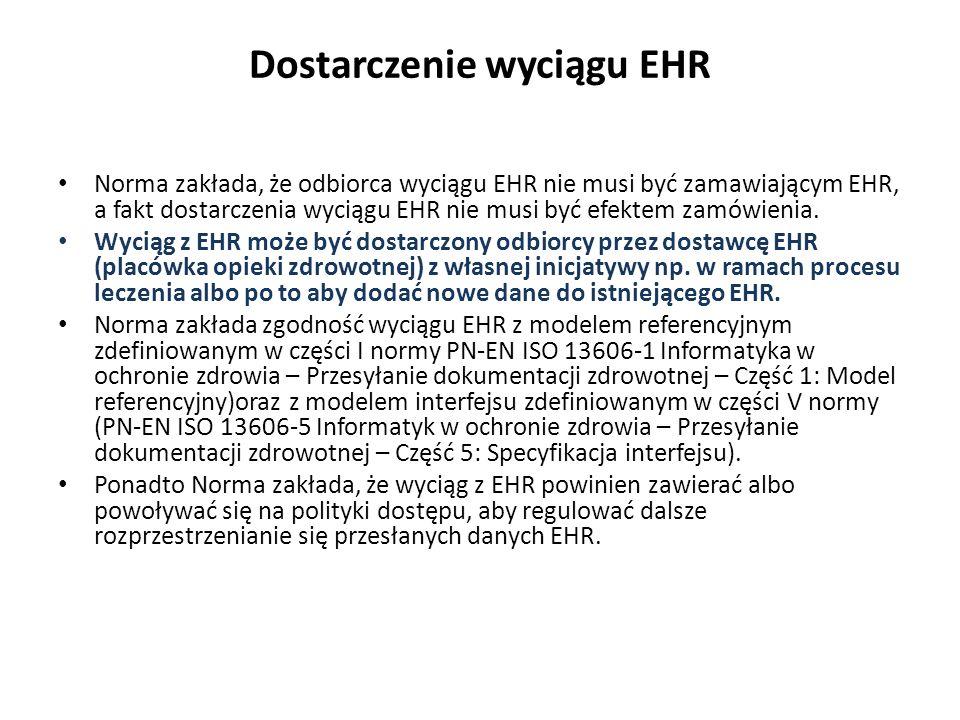 Dostarczenie wyciągu EHR