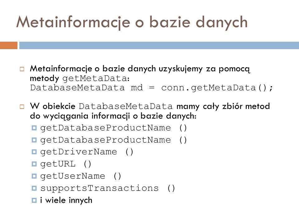 Metainformacje o bazie danych
