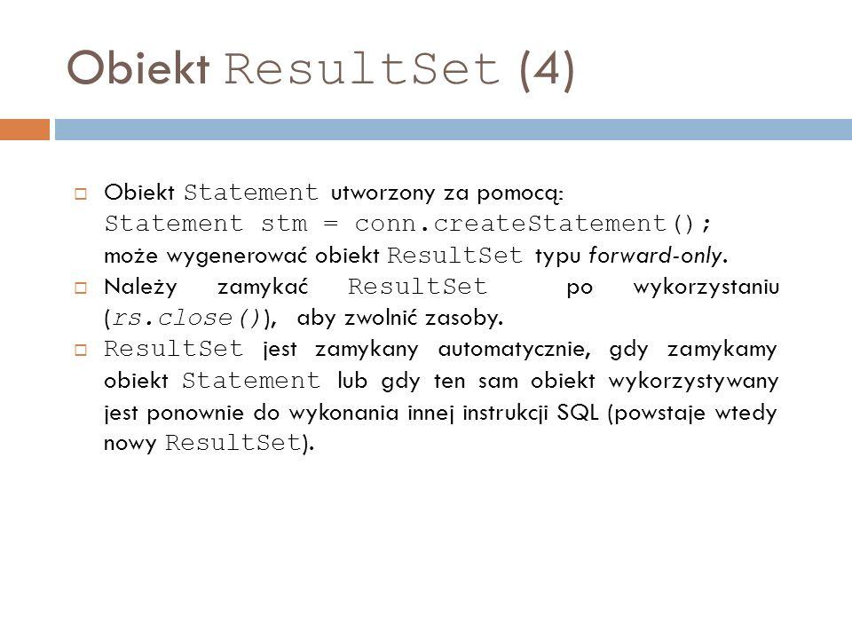 Obiekt ResultSet (4)
