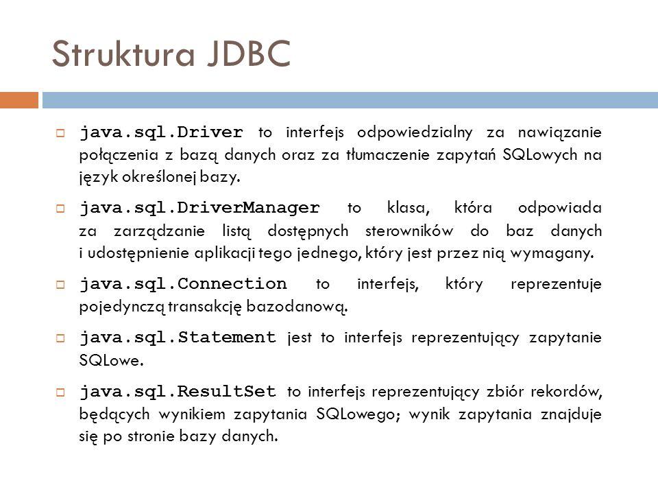 Struktura JDBC