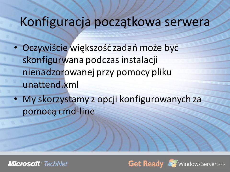 Konfiguracja początkowa serwera
