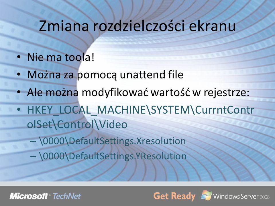 Zmiana rozdzielczości ekranu