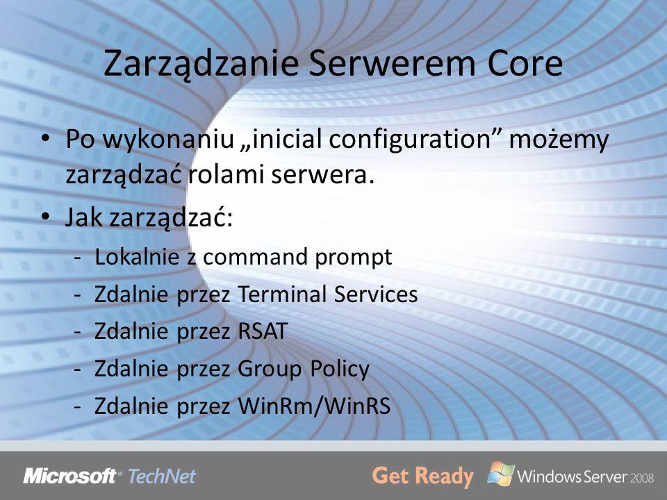 Zarządzanie Serwerem Core