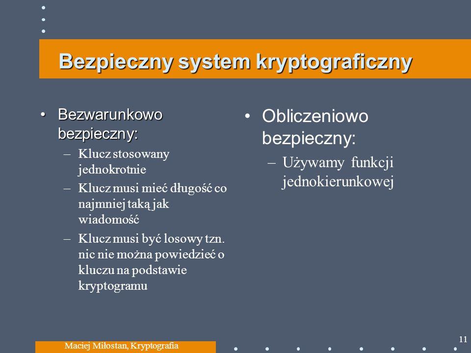 Bezpieczny system kryptograficzny
