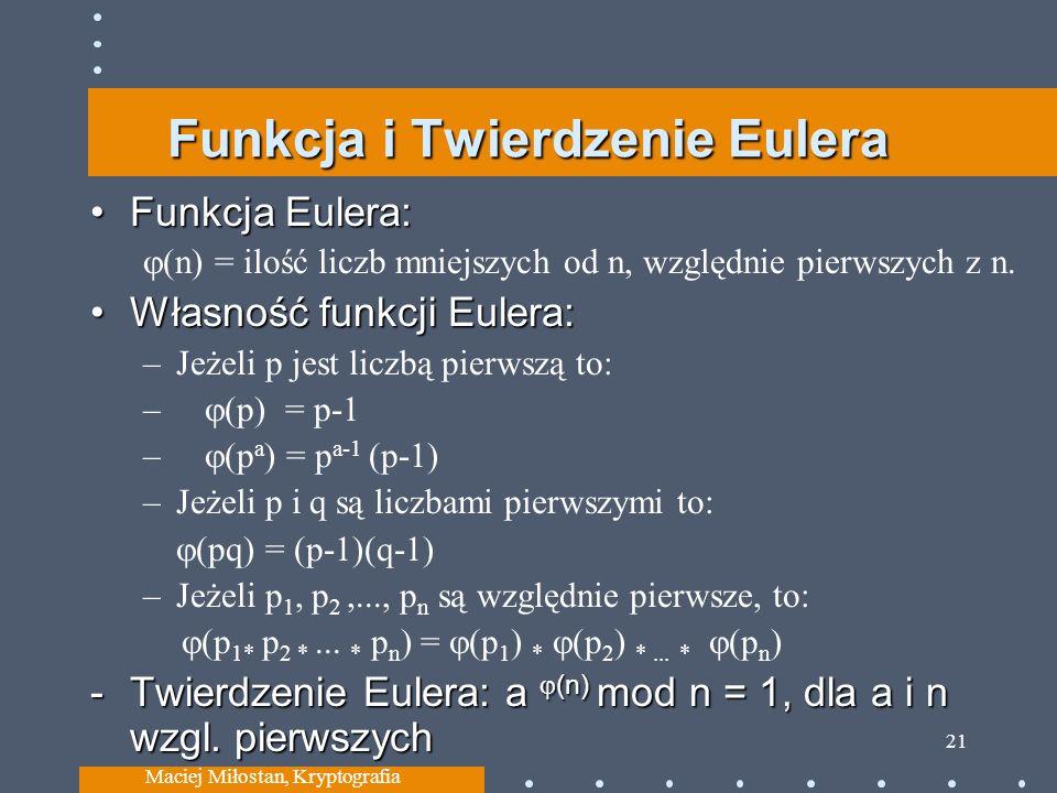 Funkcja i Twierdzenie Eulera