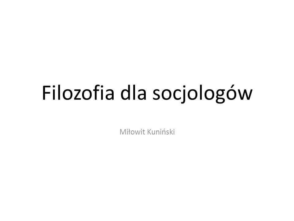 Filozofia dla socjologów