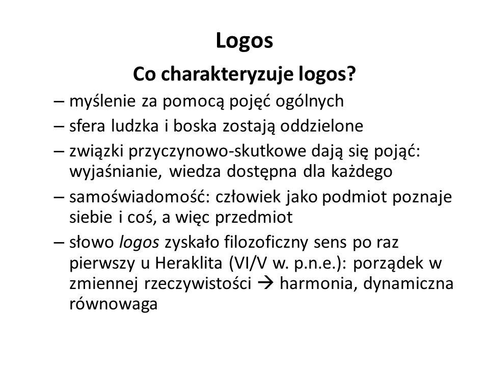 Co charakteryzuje logos