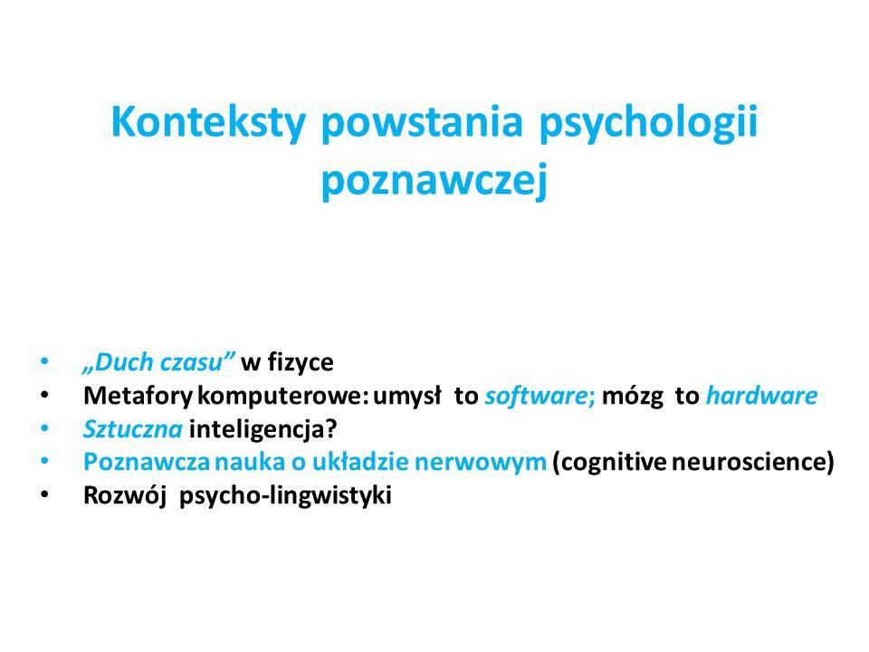 Konteksty powstania psychologii poznawczej
