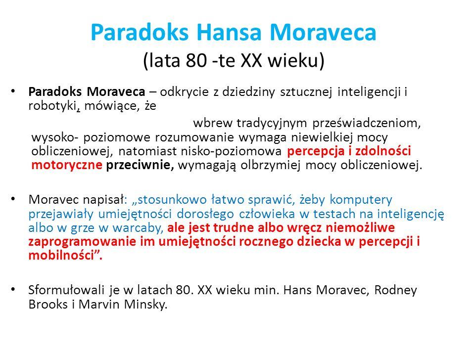 Paradoks Hansa Moraveca (lata 80 -te XX wieku)