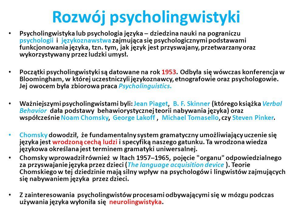 Rozwój psycholingwistyki