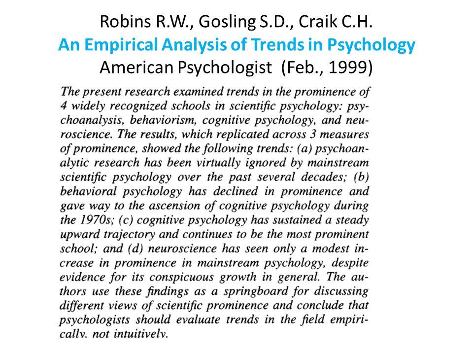 Robins R. W. , Gosling S. D. , Craik C. H