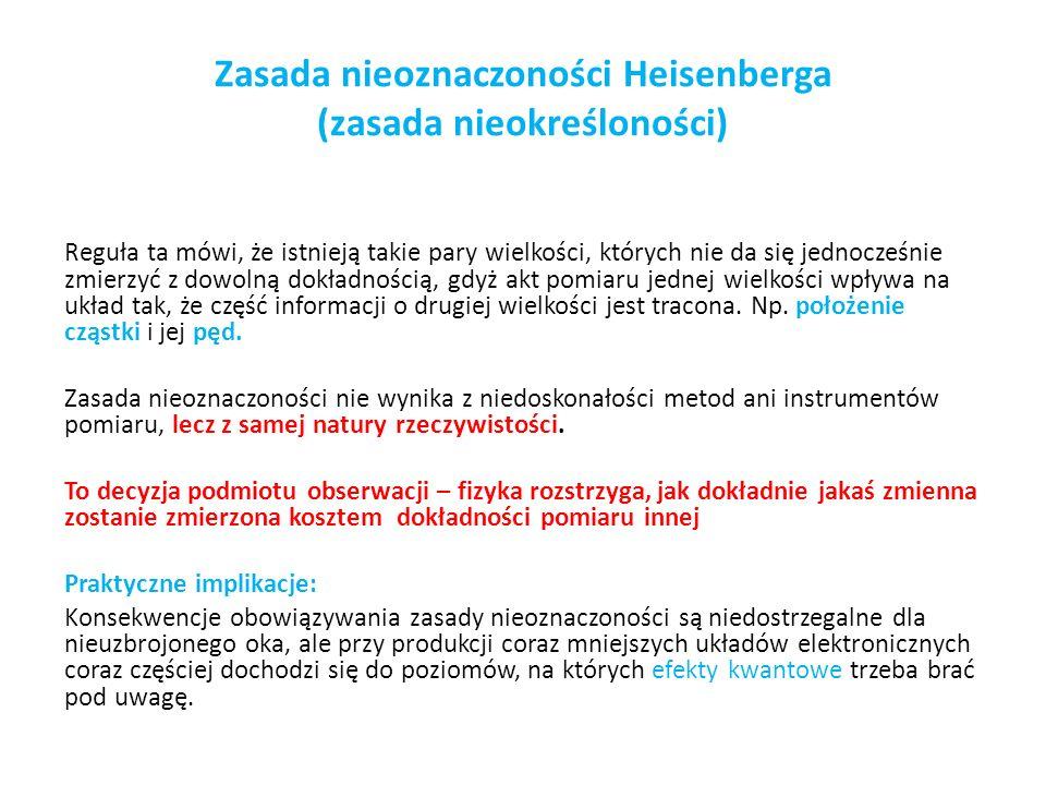 Zasada nieoznaczoności Heisenberga (zasada nieokreśloności)