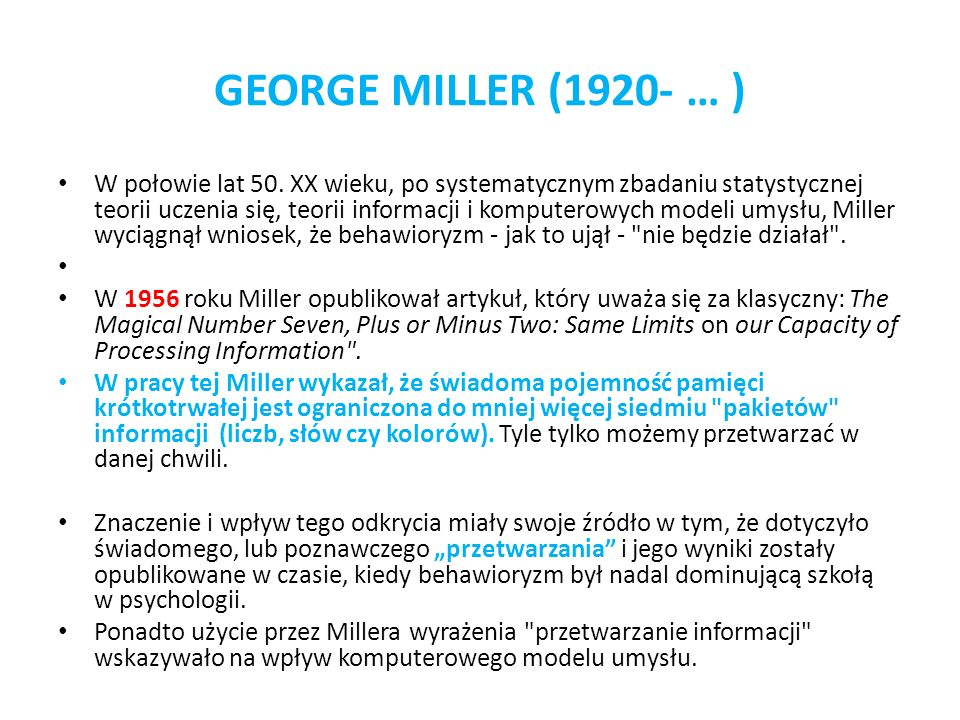 GEORGE MILLER (1920- … )