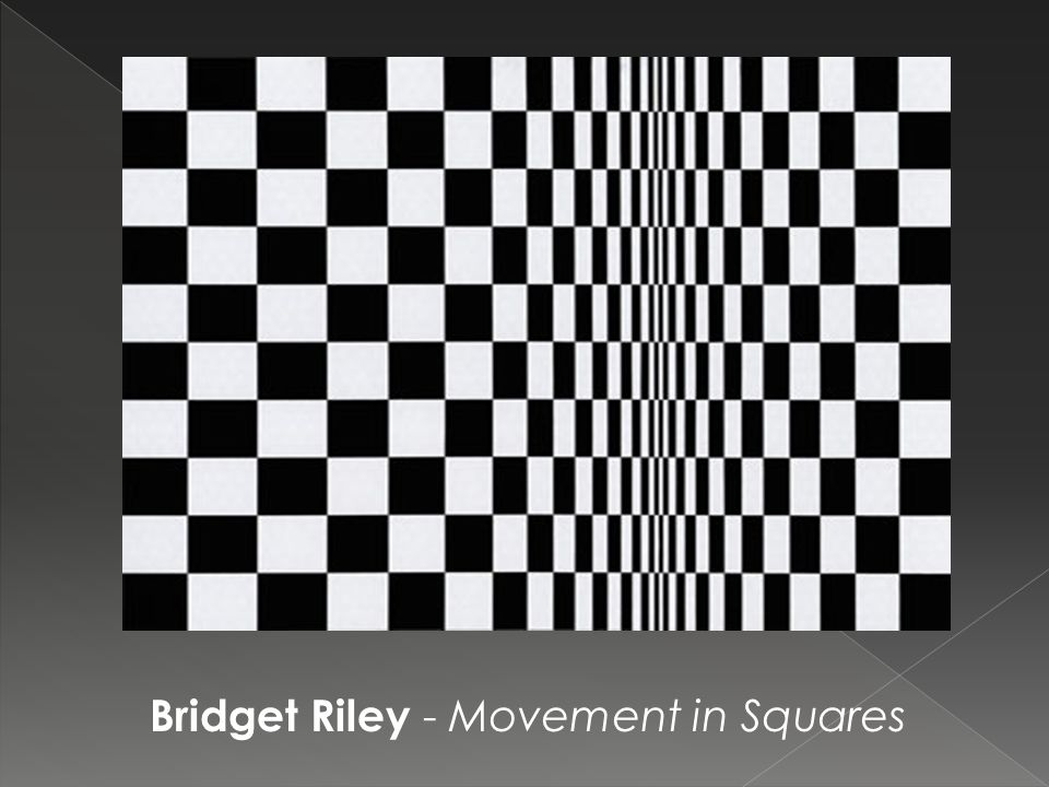 Bridget Riley - Movement in Squares
