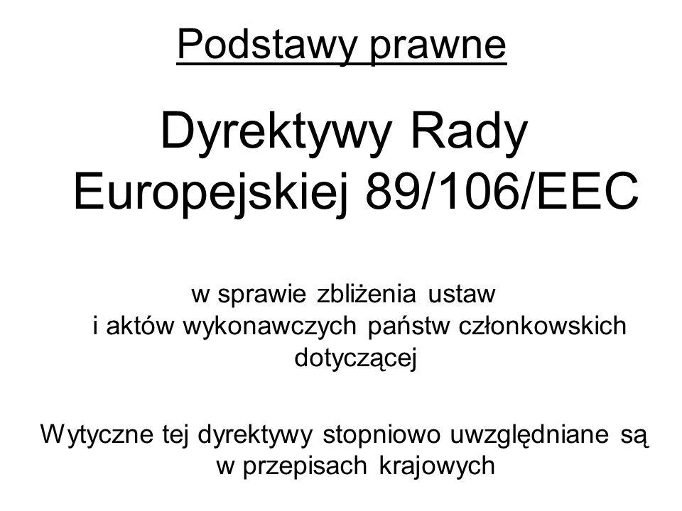 Dyrektywy Rady Europejskiej 89/106/EEC