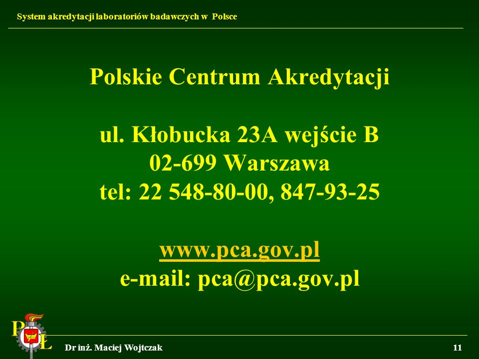 Polskie Centrum Akredytacji ul