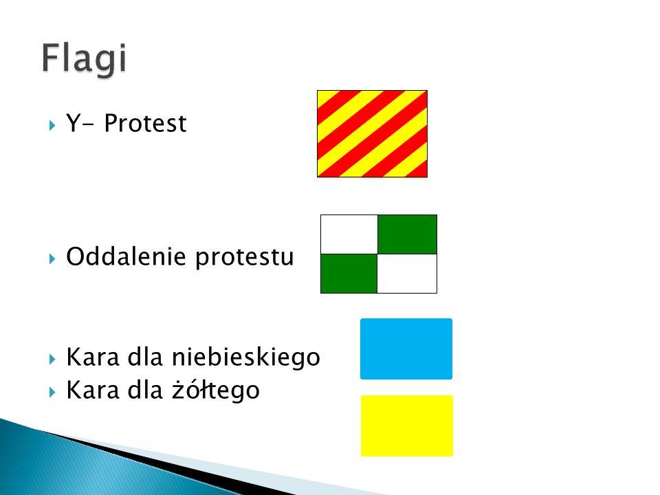 Flagi Y- Protest Oddalenie protestu Kara dla niebieskiego