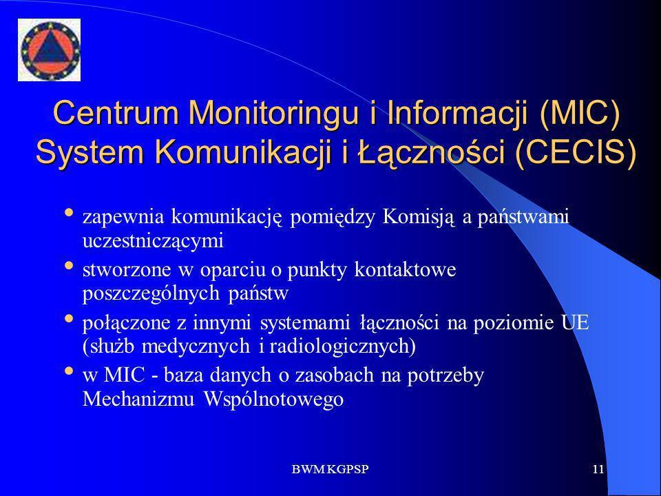 Centrum Monitoringu i Informacji (MIC) System Komunikacji i Łączności (CECIS)