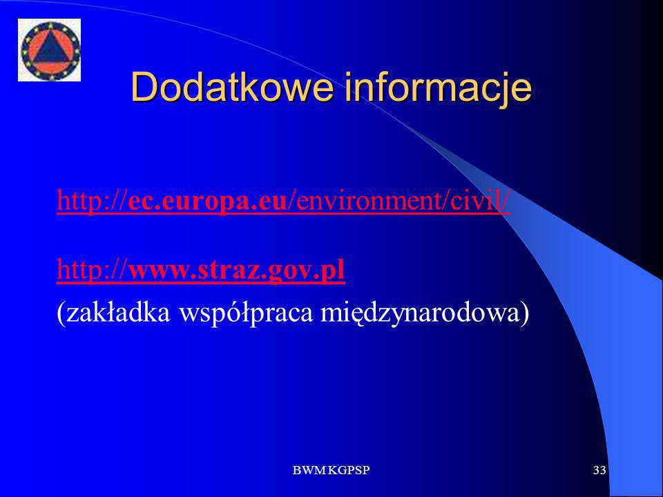 Dodatkowe informacje http://ec.europa.eu/environment/civil/