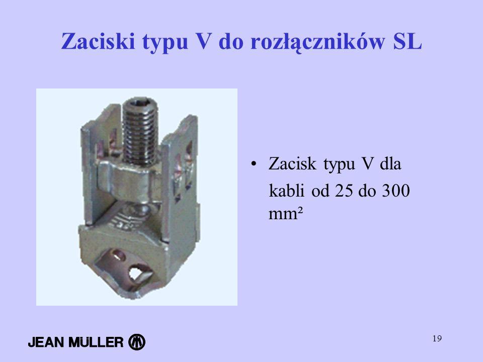 Zaciski typu V do rozłączników SL