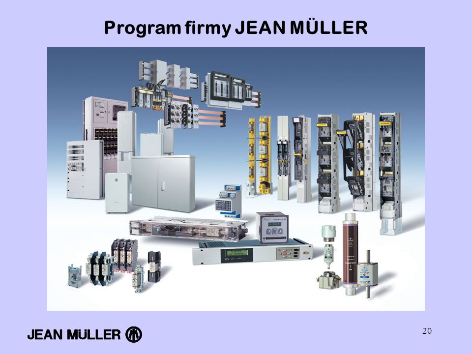 Program firmy JEAN MÜLLER
