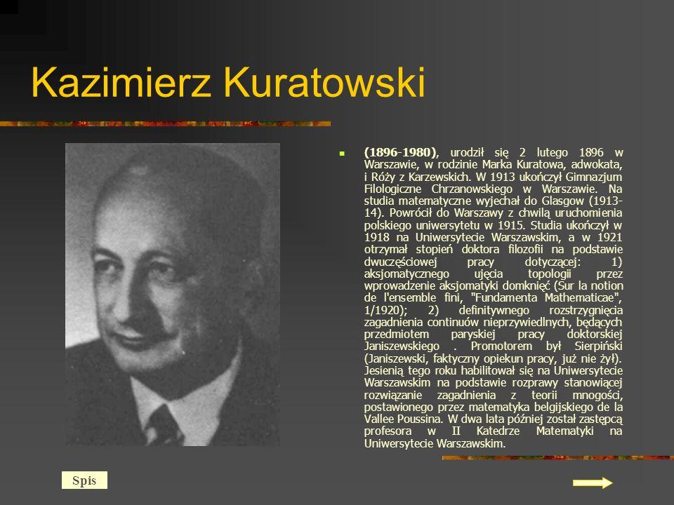 Kazimierz Kuratowski Spis