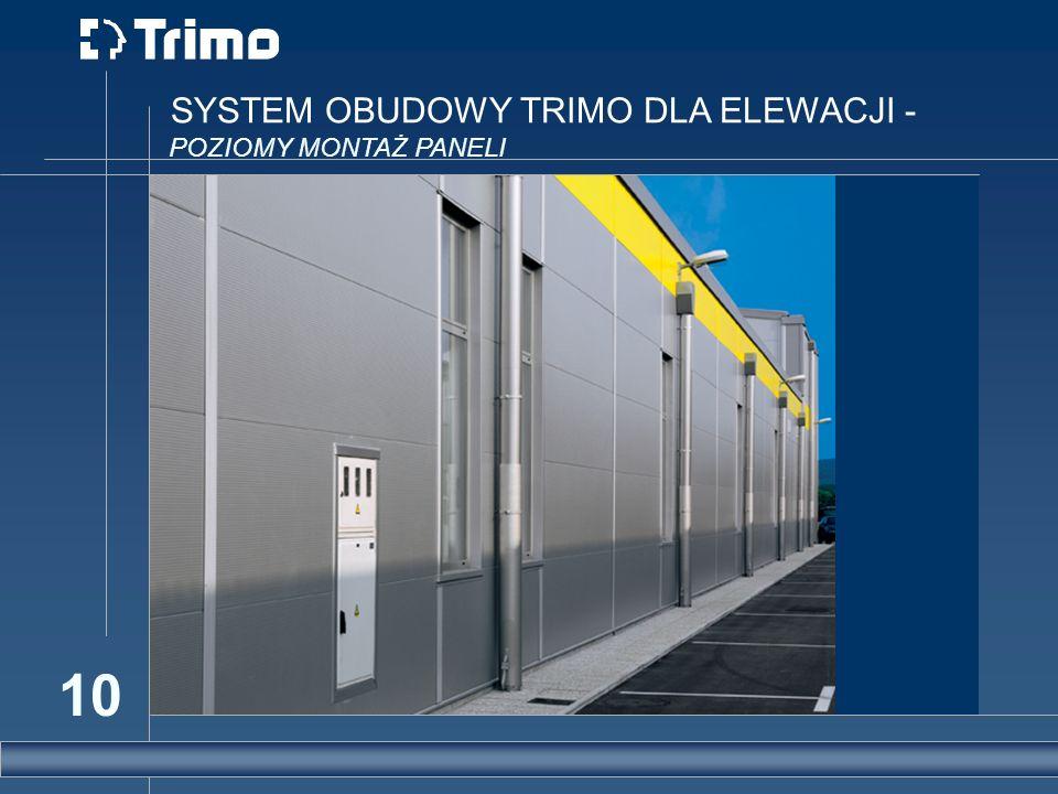 SYSTEM OBUDOWY TRIMO DLA ELEWACJI -
