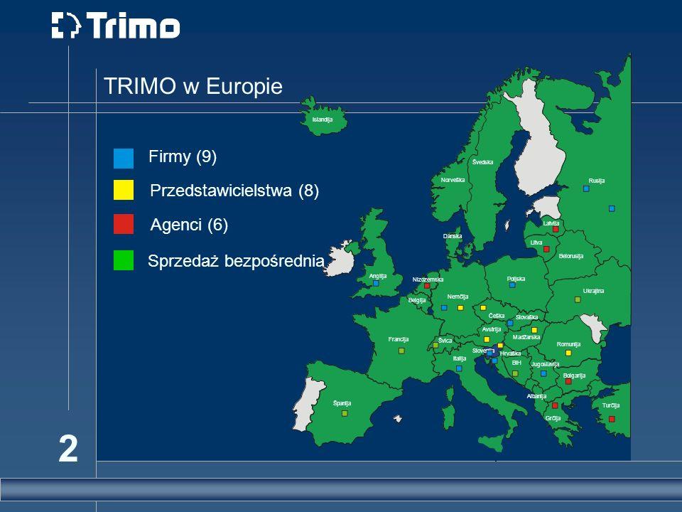 TRIMO w Europie Firmy (9) Przedstawicielstwa (8) Agenci (6)