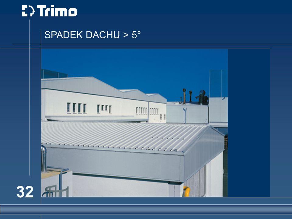 SPADEK DACHU > 5°